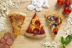 Куски пиццы Стоковые Изображения RF