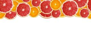 Куски свежей картины апельсина и грейпфрута безшовной Стоковое фото RF