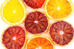 Куски свежей текстуры предпосылки еды плодоовощей апельсина крови Стоковые Фото