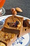 Куски торта сладостного каштана Стоковые Изображения RF