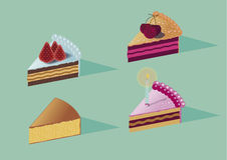 Куски тортов Стоковые Фото