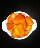 Куски тыквы с сахаром, испеченные в печи Стоковое Изображение