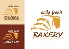 Куски хлеба как эмблема хлебопекарни иллюстрация штока