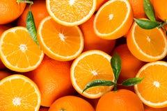 Куски цитрусовых фруктов - апельсинов стоковое изображение rf