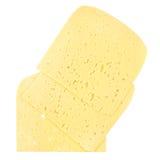 Куски швейцарского сыра при отверстия изолированные на белизне Стоковое фото RF