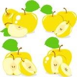 Куски Яблока, собрание иллюстраций Стоковое Изображение RF