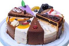 12 кусков пирога на подносе Стоковые Изображения