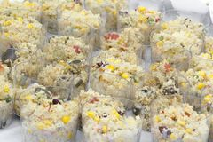 Кускус овощей готовый для еды стоковое изображение