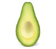 Кусок авокадоа без изолированного камня Стоковое Изображение