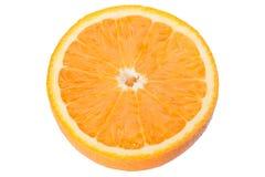 Кусок апельсина изолированного на белизне Стоковая Фотография RF