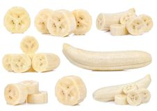 Кусок банана изолированный на белой предпосылке Стоковые Фотографии RF