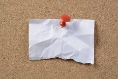 Кусок бумаги и отметка стоковая фотография rf