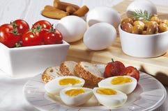 Кусок вареного яйца Стоковое Изображение RF