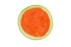 Кусок вкусного рапса круглый арбуза изолированный на белизне Стоковые Фотографии RF