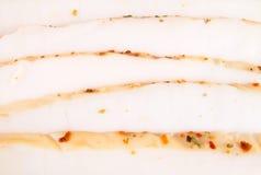 Кусок горячего копченого кальмара Стоковые Фото