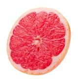 Кусок грейпфрута изолированный на белой предпосылке Стоковое фото RF