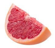 Кусок грейпфрута изолированный на белой предпосылке Стоковая Фотография
