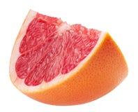 Кусок грейпфрута изолированный на белой предпосылке Стоковая Фотография RF