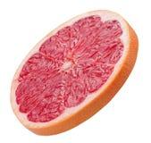 Кусок грейпфрута изолированный на белой предпосылке Стоковые Фото