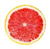 Кусок грейпфрута изолированный на белой предпосылке Стоковые Изображения RF