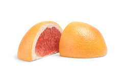 Кусок грейпфрута изолированный на белом вырезе предпосылки Стоковые Изображения