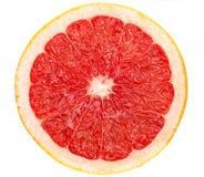 Кусок грейпфрута на белизне Стоковая Фотография