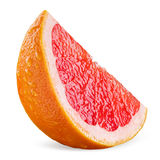Кусок грейпфрута с падениями изолированный на белизне Стоковые Изображения