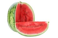 Кусок дыни арбуза летом плода приносит плоды изолированный на белом стоковая фотография rf