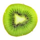 Кусок зеленого киви изолированный на белой предпосылке Стоковая Фотография RF