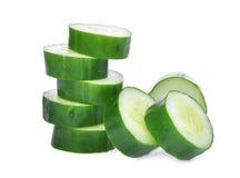 Кусок зеленых свежих японских огурца, suhyo или цукини Стоковая Фотография