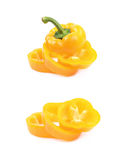Кусок изолированного болгарского перца Стоковые Фотографии RF