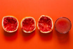 Кусок и сок грейпфрута Стоковая Фотография RF