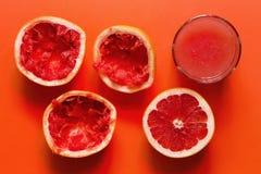 Кусок и сок грейпфрута Стоковая Фотография