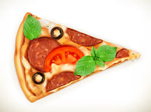 Кусок иллюстрации пиццы иллюстрация штока