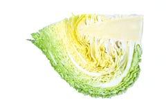 Кусок капусты, изолированный на белой предпосылке Стоковая Фотография