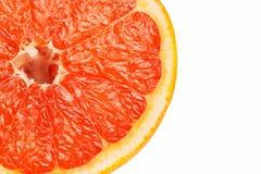 Кусок красного грейпфрута Стоковое Изображение RF
