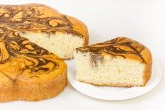 Кусок мраморного торта Стоковое Изображение RF