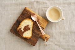 Кусок мраморного торта Стоковое Изображение