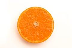Кусок оранжевого взгляд сверху Стоковое Фото