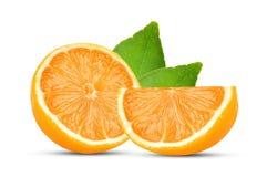 Кусок оранжевого плодоовощ изолированный на белой предпосылке стоковое изображение