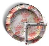 Кусок пирога денег доллара Гонконга Стоковое фото RF