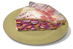 Кусок пирога денег доллара Гонконга Стоковые Изображения
