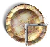 Кусок пирога денег южно-африканского ранда Стоковое Изображение