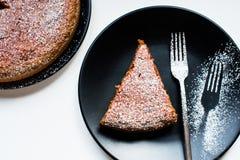 Кусок пирога и вилка Стоковые Фотографии RF