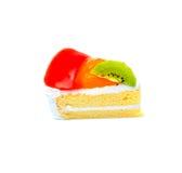 Кусок пирога кивиа на белой предпосылке Стоковая Фотография RF