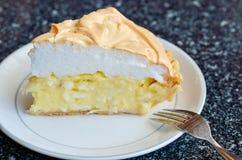 Кусок пирога на таблице Стоковые Фотографии RF