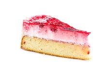 Кусок пирога при суфле и клубники, предусматриванные с strawb Стоковые Фото