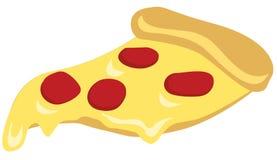 Кусок пиццы вектора изолированный на белой предпосылке Стоковая Фотография RF