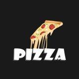 Кусок пиццы pepperoni, Стоковое Изображение