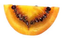 Кусок плодоовощ томата дерева tamarillo изолированного на белой предпосылке Стоковая Фотография RF